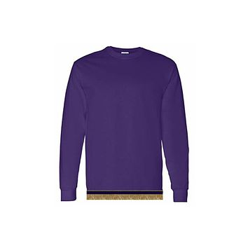 Youth Boys & Girls Purple Long Sleeve T-shirt With Fringes