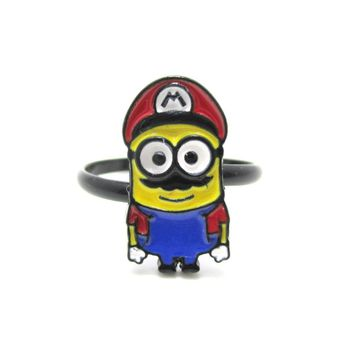 Mario The Minion Despicable Me Nintendo Inspired Adjustable Ring | DOTOLY