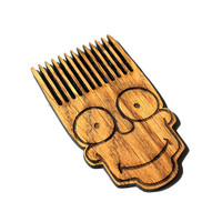 Bart Simpson  ~ The Simpsons~ Beard Comb Bart Simpson Shaped Wooden Mustache Comb For Men For Him Gift Gift for Him Husband Gift Friend Gift