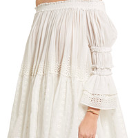 Off-the-shoulder broderie anglaise cotton-voile top | Chloé | UK | THE OUTNET