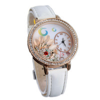 Womens Girls Beautiful Denim Strap Watch