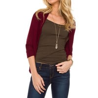 Wishful Cardigan - Burgundy