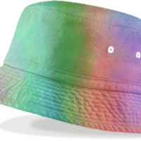 Rainbow Love Bucket Hat created by Christy Leigh | Print All Over Me