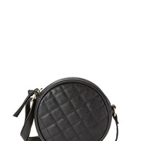 FOREVER 21 Round Quilted Crossbody