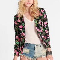 Twisted Vines Floral Blazer - $62.00 : ThreadSence, Women's Indie & Bohemian Clothing, Dresses, & Accessories