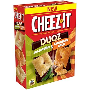 Cheez-It Duoz Cheddar Jack & Jalapeno Baked Snack Crackers, 12.4 oz