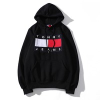 Tommy Jeans Casual Long Sleeve Pullover Top Sweatshirt