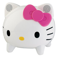 Hello Kitty KT4557 Bluetooth Speaker System 4W Amplified 3.5mm White