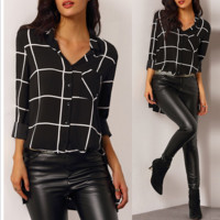 Black And White Plaid Shirt B0013940