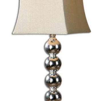 Table Lamp - Stacked Metal Spheres