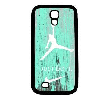 Nike Jordan Mint Wood Samsung Galaxy S4 Case