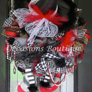 Halloween Wreath, Halloween Decoration, Witch Wreath, Fall Wreaths, Front Door  Wreath,