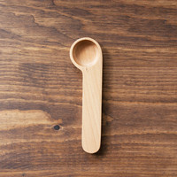 Wooden Cafe Clip Coffee Scoop