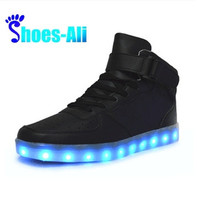 Microfiber Leather Large Size Luminous LED Shoes For Adults LED Fashion Chaussure Lumineuse Basket Light up Shoes Women & Men [8822144899]