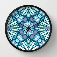 X marks the spot Wall Clock by ArtLovePassion