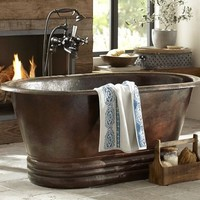 Hand Hammered Copper Bath Tub