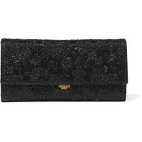 Michael Kors Collection - Yasmeen metallic floral-brocade clutch
