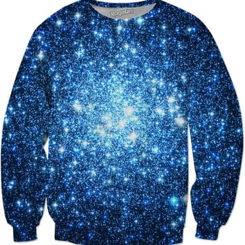 The Cool Blue Stars | Universe Galaxy Nebula Star Clothes | Rave & Festival Shirt
