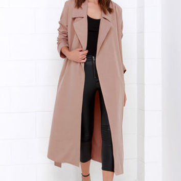 Night Drive Blush Trench Coat
