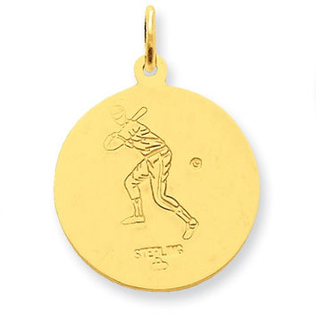 24 Gold plated Silver StChristopher Baseball Medal