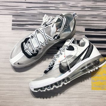 DCCK2 N1184 NIKE REACT ELEMENT 87-MAX 2019 Cicada Mesh Sports Running Shoes White Sliver Black