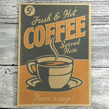 ship Vintage COFFEE Antique posters classic wall art crafts paint sticker living room cafe bar decor 42x30cm JIP-S138
