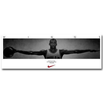 Michael Jordan Wings Art Silk Fabric Poster Print 13x38 20x58inch Basketball Sport Pic