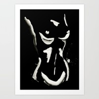 White on Black Nude No.1 Art Print by THE AESTATE