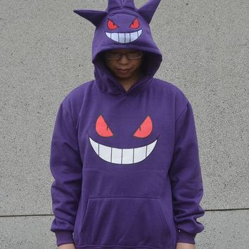 Anime  Go Gengar  Unisex Hoodie 4SIZE Costume Hoodie Sweatshirt Coat  Outwear HoodiesKawaii Pokemon go  AT_89_9