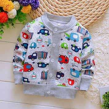 2019 Spring Autumn Boy Cotton Sweaters for Baby Boy Warm Clothes 0-2yrs Kids Casual Knitted Cardigan Sweaters Infant Tee Girls