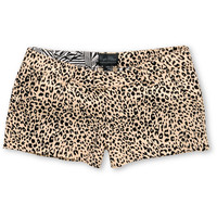 Volcom Girls Frochickie Animal Cheetah Print Shorts