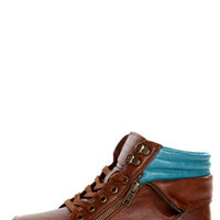 Bamboo Graphic 01 Chestnut Lace-Up High Top Sneakers