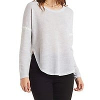 CROCHET TRIM HIGH-LOW THERMAL TOP
