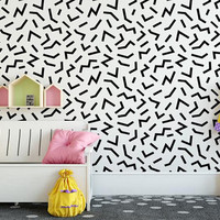 Confetti Decal, Geometric Wall Decal, Wall Decal Kids, Mid Century Decor, Retro Wall Decal, Modern Wall Decal, Modern Nursery Decor