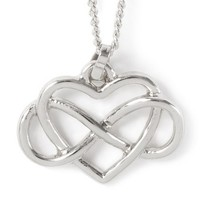 Infinity Heart Pendant Necklace  | Claire's