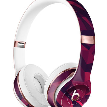 Red Chiseled Geometric Shapes Full-Body Skin Kit for the Beats by Dre Solo 3 Wireless Headphones