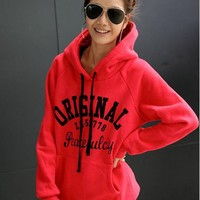 Letters Hooded Guard Sweatshirt$41.00