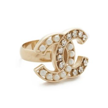 Chanel Imitation Pearl Ring (Previously Owned)