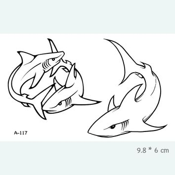 Shark Waterproof Temporary Tattoo Stickers for Adults Kids Body Art  Fake Tatoo for Women Men Tattoos A-117