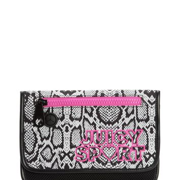 Python Print/Black Juicy Sport Python Nylon Flap Pouch by Juicy Couture, No