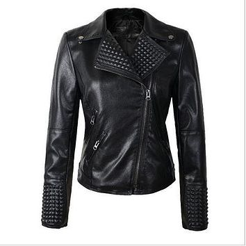 HOT 2017 New Women Leather Jackets Fashion Female  Winter Motorcycle Brand Coat Outwear Hot Sale Leather Jackets