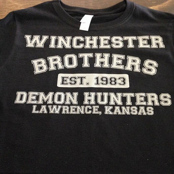 Supernatural winchester brothers demon hunters t-shirt