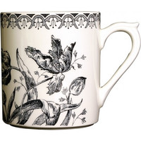 Gien Tulipes Noires Coffee Mug