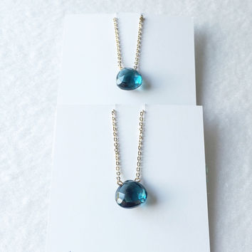 London blue topaz faceted drops - trunk show
