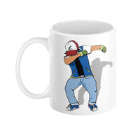 Pokemon Ash dabbin Young Thug Migos Mug - Coffee Anime  Pikachu Squirtle Charmander Ash 90 s Vintage Cartoon yugioh dbz