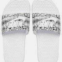 Nike Benassi Just Do it White Slider Sandals