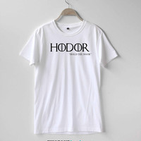 Hodor Shirt Game of Thrones Shirt TShirt T-Shirt T Shirt Tee