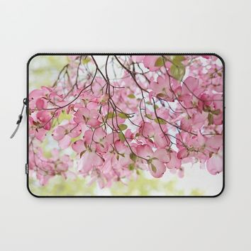 pink dogwoods Laptop Sleeve by Sylvia Cook Photography