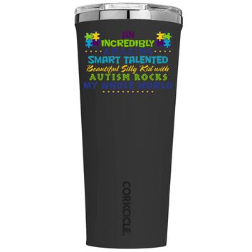 Corkcicle An Amazing Smart Talented Kid with Autism on Black 24 oz Tumbler Cup