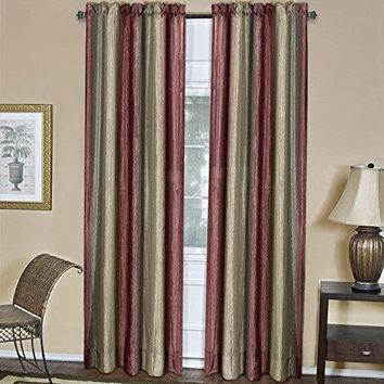 Ben&Jonah Collection Ombre Window Curtain Panel 50x84 - Burgundy